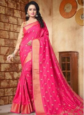 Silk Contemporary Saree For Festival