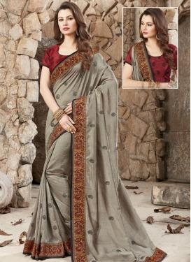 Silk Contemporary Style Saree