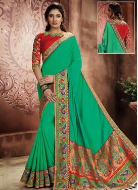 Silk Contemporary Style Saree For Ceremonial