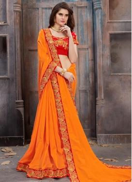 Silk Contemporary Style Saree For Festival