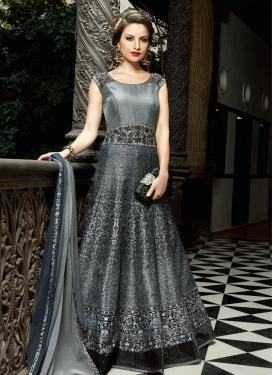 Silk Cutdana Work Long Length Anarkali Suit
