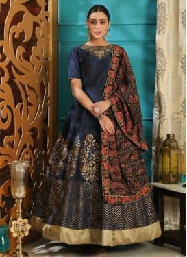 Silk Cutdana Work Readymade Classic Gown