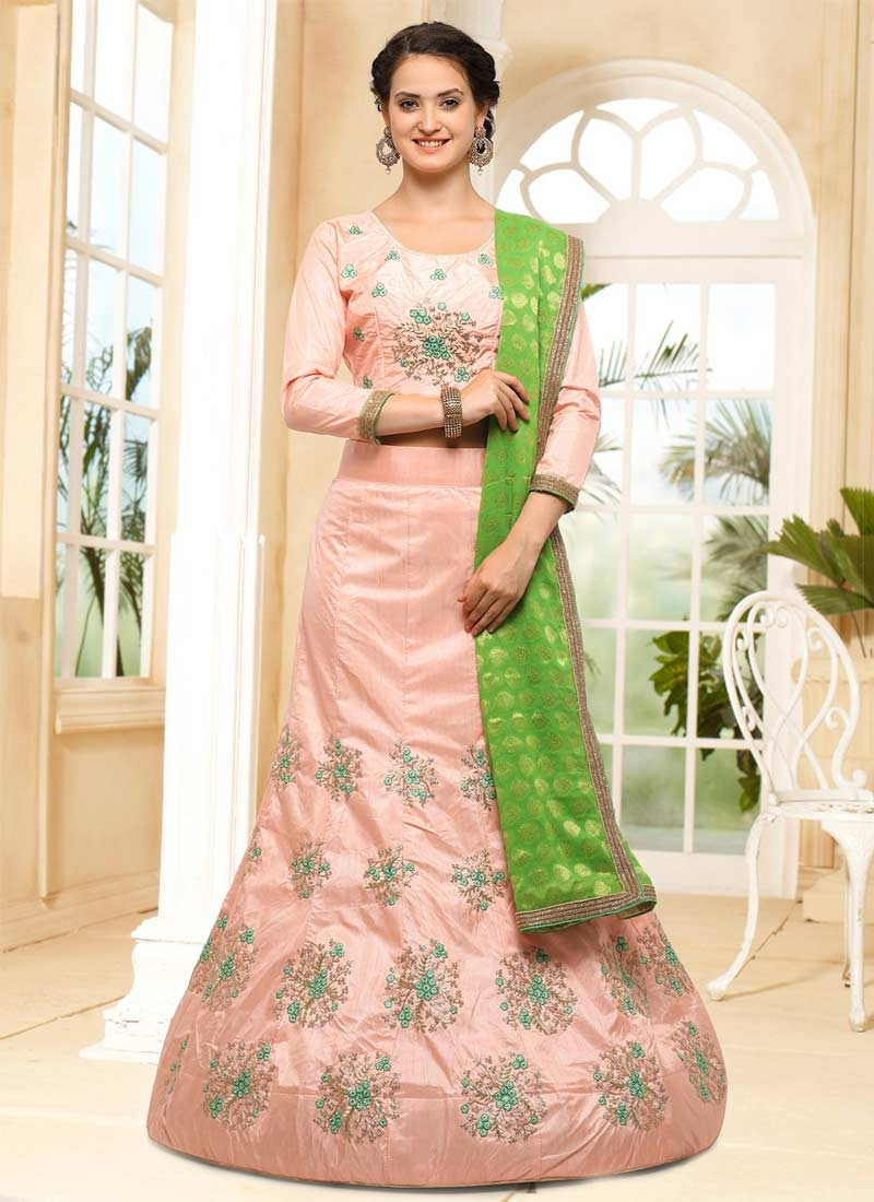 Silk Designer A Line Lehenga Choli For Ceremonial