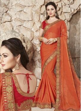 Silk Designer Contemporary Style Saree For Party