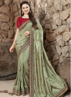 Silk Designer Traditional Saree For Festival