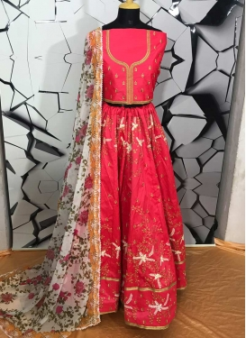 Silk Embroidered Work A - Line Lehenga