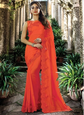 Silk Embroidered Work Designer Traditional Saree