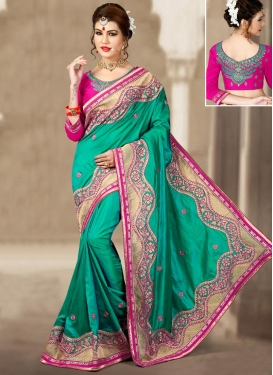 Silk Embroidered Work Traditional Designer Saree