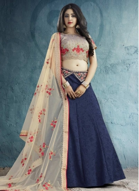 Silk Embroidered Work Trendy A Line Lehenga Choli