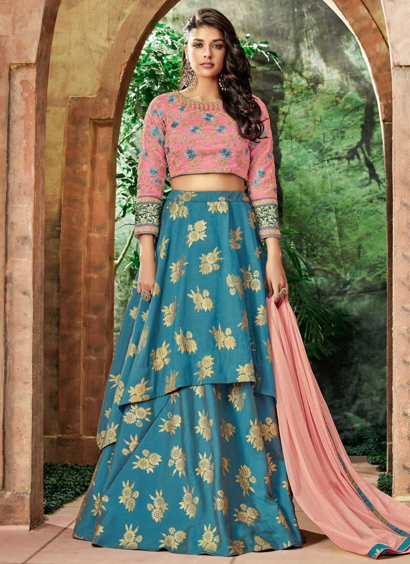 Silk Embroidered Work Trendy Designer Lehenga Choli