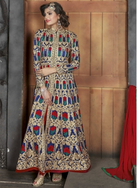 Silk Embroidered Work Trendy Designer Suit