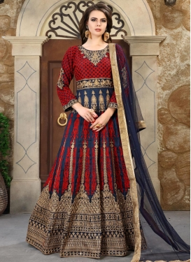 Silk Floor Length Anarkali Salwar Suit For Ceremonial