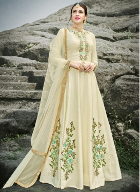 Silk Floor Length Salwar Suit