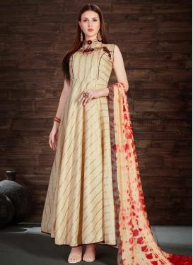Silk Floor Length Trendy Gown For Festival