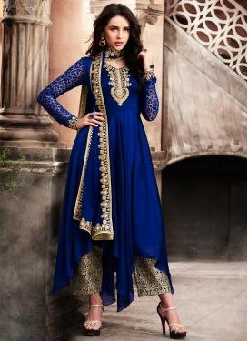 Silk Georgette Asymmetrical Designer Salwar Suit