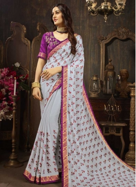 Silk Georgette Classic Saree For Casual