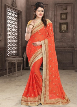 Silk Georgette Contemporary Style Saree For Festival