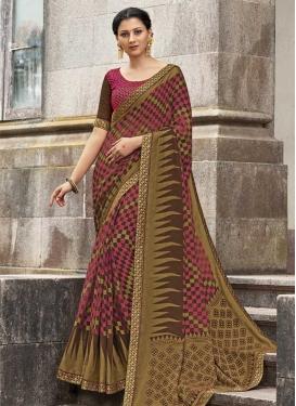Silk Georgette Designer Contemporary Saree