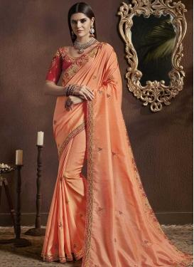 Silk Georgette Designer Contemporary Style Saree