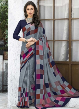 Silk Georgette Designer Contemporary Style Saree For Casual