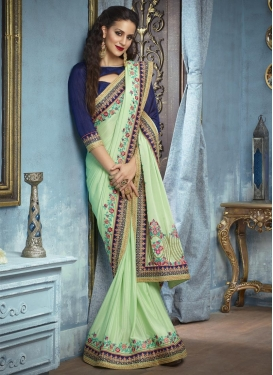 Silk Georgette Embroidered Work Classic Designer Saree