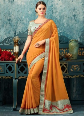 Silk Georgette Embroidered Work Traditional Saree