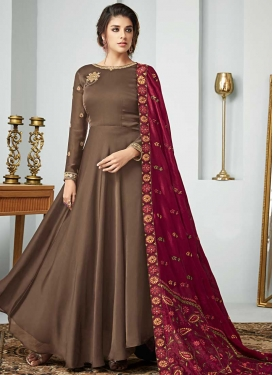 Silk Georgette Floor Length Anarkali Salwar Suit