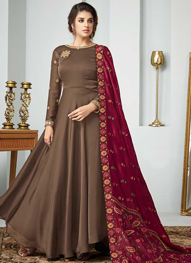 Silk Georgette Floor Length Anarkali Salwar Suit