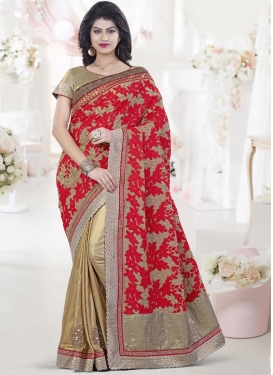 Silk Georgette Half N Half Saree