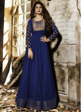 Silk Georgette Jennifer Winget Long Length Designer Anarkali Suit