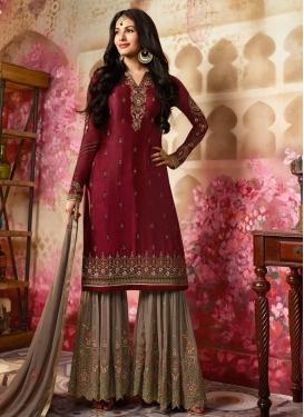 Silk Georgette Sharara Salwar Kameez
