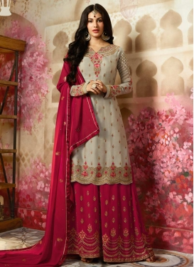 Silk Georgette Sharara Salwar Suit For Ceremonial
