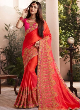 Silk Georgette Traditional Designer Saree For Ceremonial