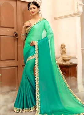 Silk Georgette Trendy Classic Saree For Ceremonial