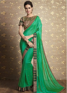 Silk Georgette Trendy Classic Saree For Festival