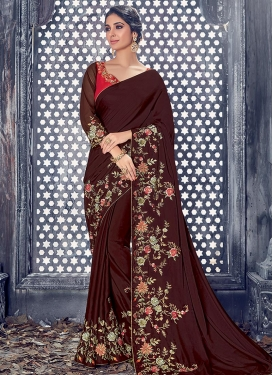 Silk Georgette Trendy Saree For Party