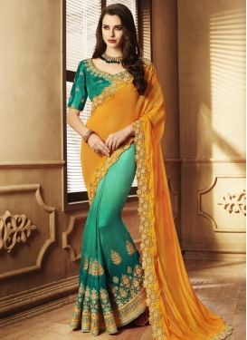 Silk Half N Half Designer Saree