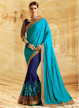 Silk Half N Half Trendy Saree For Ceremonial