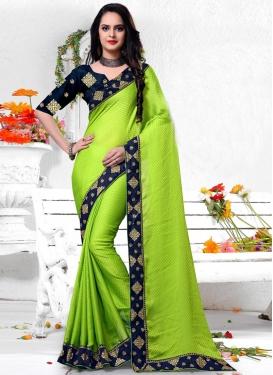 Silk Lace Work Classic Saree