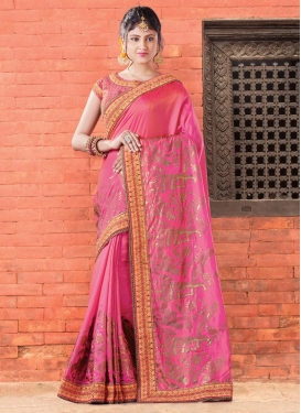 Silk Lace Work Contemporary Style Saree