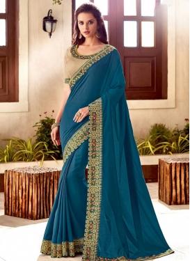 Silk Lace Work Designer Contemporary Saree