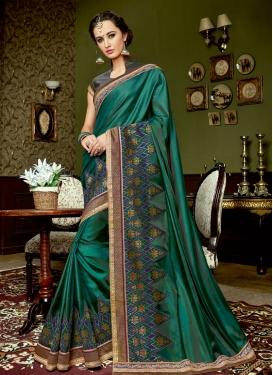 Silk Lace Work Traditional Designer Saree