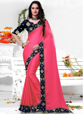 Silk Lace Work Traditional Designer Saree
