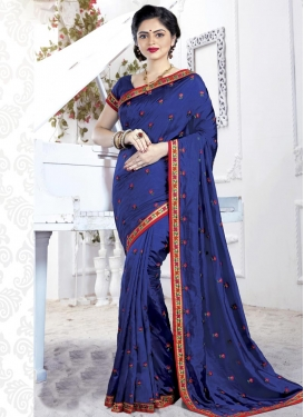 Silk Lace Work Trendy Saree