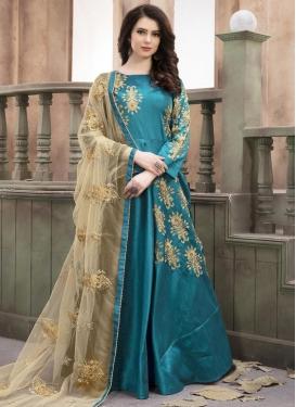 Silk Long Length Anarkali Salwar Suit