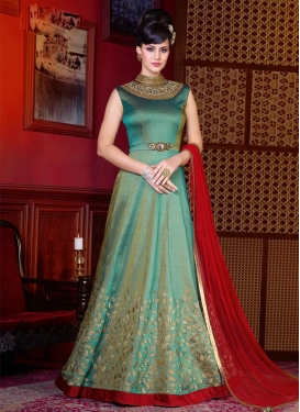 Silk Long Length Anarkali Suit