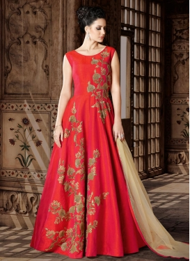 Silk Long Length Designer Suit