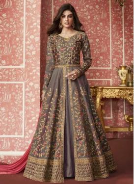 Silk Long Length Layered Salwar Suit