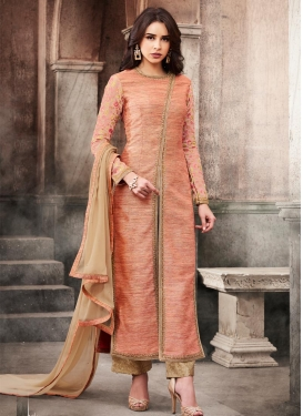 Silk Pant Style Designer Salwar Kameez For Ceremonial