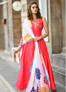 Silk Readymade Classic Gown For Festival
